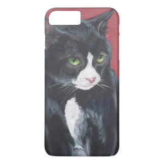 Black and white Tuxedo cat iPhone 7 Plus Case