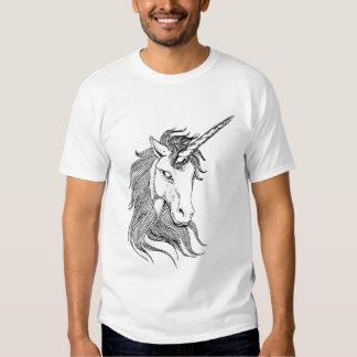 Black and White Unicorn Tee Shirt