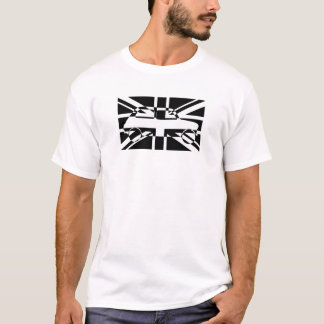 Black and White Union Flag Classic Mini T-Shirt
