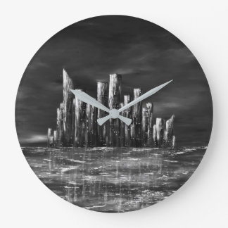 Black and White Urban Ten clock by Jane Howarth