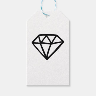 Black and white version of diamond gift tags