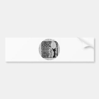 Black and White Version - Reiki n Karuna Bumper Sticker