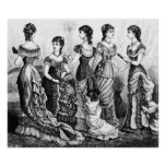 Black And White Victorian Fashions Posters