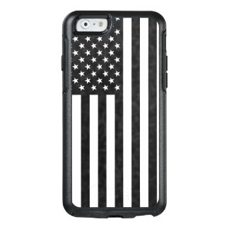 Black and White vintage American Flag Symmetry Cas OtterBox iPhone 6/6s Case
