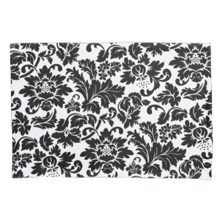 Black And White Vintage Floral Damasks Pillowcase