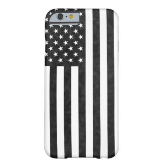 Black and White vintage Modern American Flag Barely There iPhone 6 Case