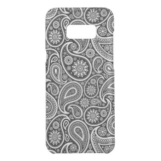 Black & and white vintage paisley pattern 2a uncommon samsung galaxy s8 plus case