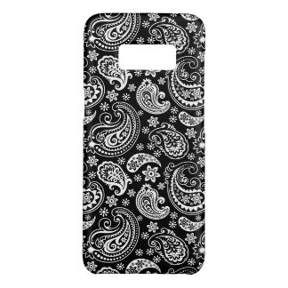 Black And White Vintage Paisley Pattern Case-Mate Samsung Galaxy S8 Case