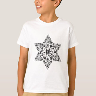 Black and White Vintage Star of David - Magen Davi T-Shirt