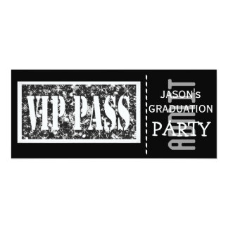Black and white VIP Graduation party Card