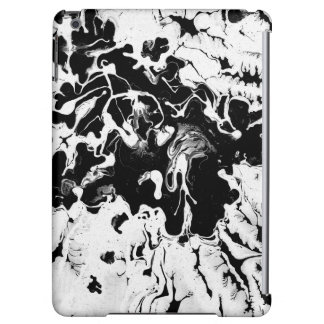 Black and white, water texture design, marbling case for iPad air