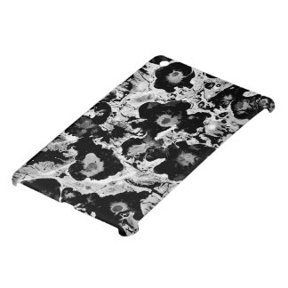 Black and white, water texture design, marbling iPad mini case