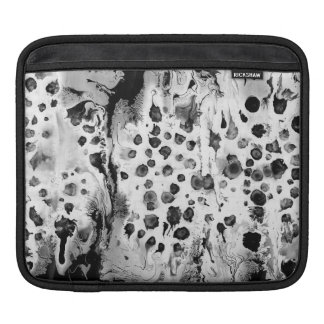 Black and white, water texture design, marbling iPad sleeves