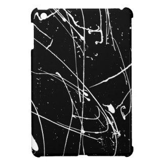 Black and white watercolor splatters pattern iPad mini cases