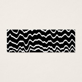 Black and White Wave Pattern. Mini Business Card