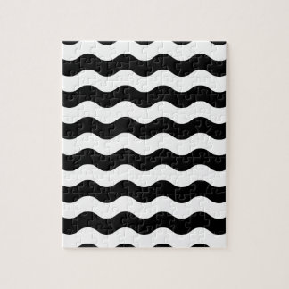 Black and white waves 50s edition jigsaw puzzle