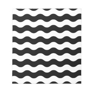 Black and white waves 50s edition notepad