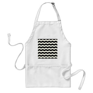 Black and white waves 50s edition standard apron