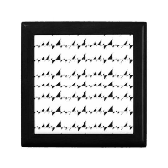 Black and White Wavy Stripes Pattern Gift Box
