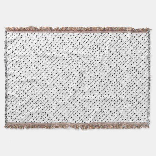 Black and White Wavy Stripes Pattern Throw Blanket