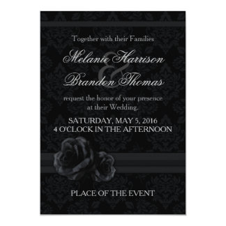 Black and white wedding invitations with RSVP