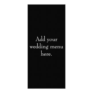 Black and White Wedding Reception Menu Cards