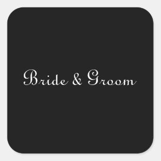 Black and White Wedding Sticker Templates