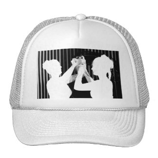 Black and white wedding veil by bride &bridesmaid mesh hat