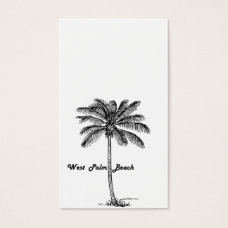 Black and white West Palm Beach & Palm design Business Card