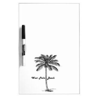 Black and white West Palm Beach & Palm design Dry Erase Board
