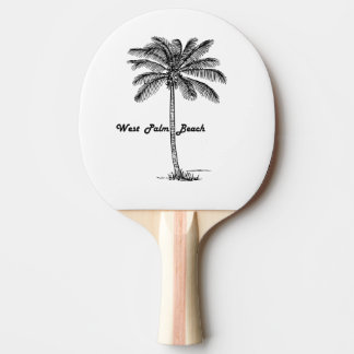 Black and white West Palm Beach & Palm design Ping Pong Paddle