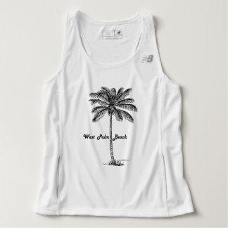 Black and white West Palm Beach & Palm design Singlet