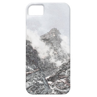 Black and white winter mountains iPhone 5 covers