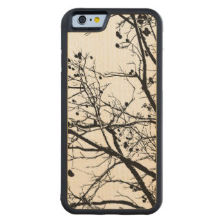 Black and White Winter Tree Carved® Maple iPhone 6 Bumper