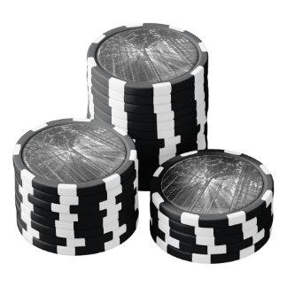 Black and White Winter Wonderland Poker Chips