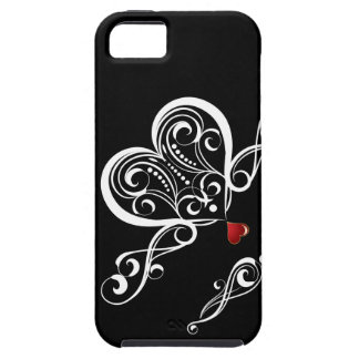 Black and White with a Red Love Heart | iPhone 5 Covers