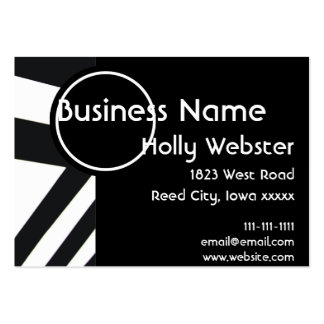 Black and White With Angles Pack Of Chubby Business Cards