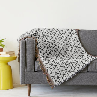 Black and White with Grey Shibori Geometric