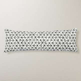 Black and White with Grey Shibori Geometric Body Cushion