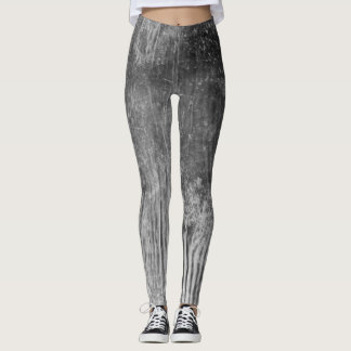 black and white wood plank print leggings