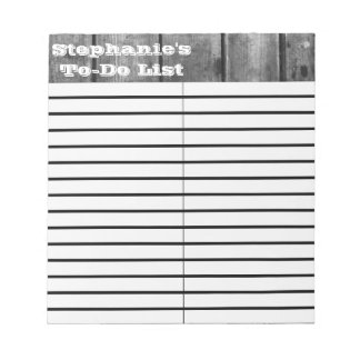 Black and White Wood Plank To-Do/Shopping List Pad