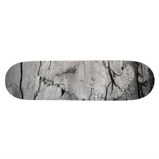 Black and White Wood Print Skate Deck