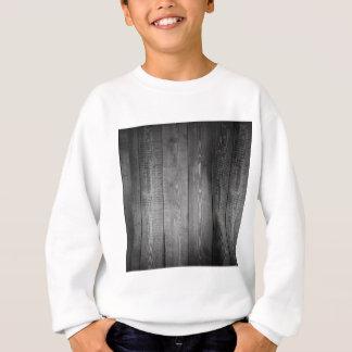 Black and White Wood Print Sweatshirt