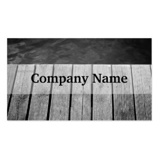 Black and White Wooden Jetty Closeup Pack Of Standard Business Cards