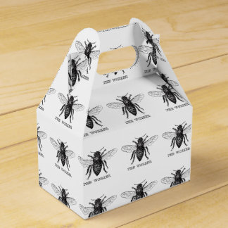Black and White Worker Bee Vintage Favour Box