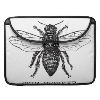 Black and White Worker Bee Vintage Sleeve For MacBook Pro