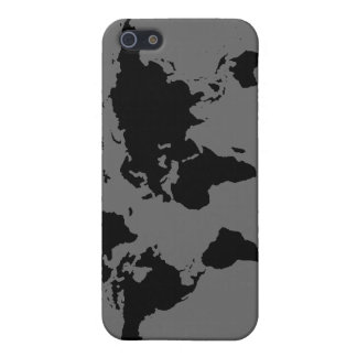 black and white World Map Case For iPhone 5/5S