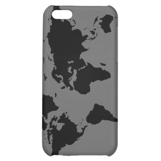 black and white World Map iPhone 5C Cover