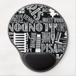Black and white world mouse pad gel mouse pad