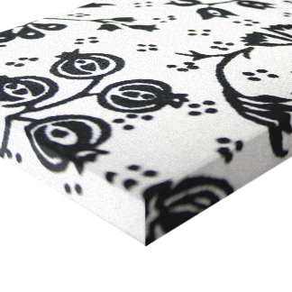 Black and White Wrapped Canvas Gallery Wrap Canvas